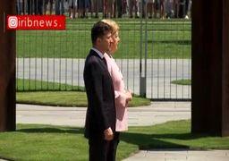 ویدئو/ لرزش شدید «آنگلا مرکل» دریک دیدار دیپلماتیک