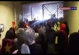 لحظه ورود زنان به ورزشگاه آزادی