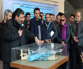 بازدید هنرمندان از پروژه پلازای میدان ولیعصر (عج)