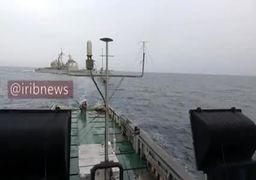 فیلم | محاصره ناو آمریکایی توسط قایقهای سپاه در خلیجفارس
