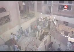 ویدئو/ حمله مرگبار ائتلاف سعودی به یمن