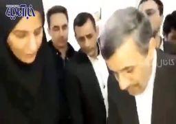 فیلم | شاهکار جدید احمدینژاد؛ آموزش ساخت ماسک ضد کرونا، پای صندوق رای !