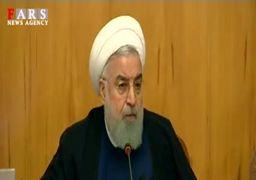 روحانی: با بگیر و ببند مشکل اقتصادی حل نمیشود + فیلم