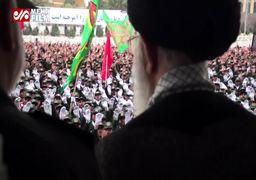 فیلم | سرود دستهجمعی که سربازها برای رهبری خواندند
