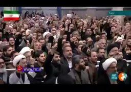 فیلم | مزاح رهبر انقلاب با نحوه تکبیر گفتن حاضران
