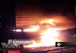 آتشسوزی گسترده در مجتمع تجاری در غرب تهران +فیلم