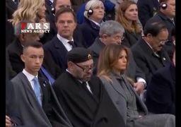 واکنش جالب ترامپ به خوابیدن پادشاه مراکش حین سخنرانی