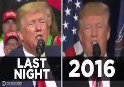 فیلم | کپیبرداری ترامپ از سخنرانیهای 2016