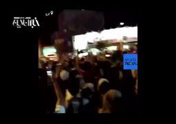 شادی پیروزی تیم ملی در خیابانهای تهران، کرج، کرمانشاه و مشهد+فیلم