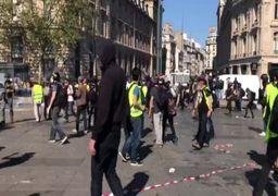 ویدئو/ شورش جلیقهزردهای فرانسه در روز عید پاک