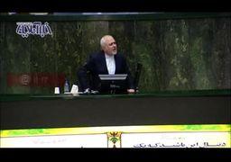 ظریف: من بر علیه منافع ملی حرف میزنم یا آنان که برای منافع جناحی از حرفهای من سوء استفاده میکنند؟ +فیلم
