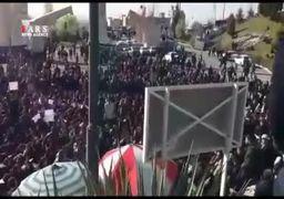تجمع اعتراضی دانشجویان دانشگاه علوم و تحقیقات