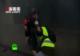 اعتراضات فرانسه؛ پلیس به گاز اشکآور متوسل شد