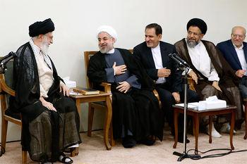 افطار هئیت دولت با مقام معظم رهبری