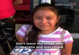 فیلم/ پدرم جنایتکار نیست؛ اشکهای تاثیرگذار دختر یک مهاجر