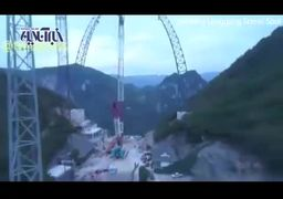 فیلم | بلندترین تاب جهان در چین