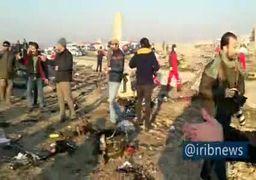 فیلم   گزارش صداوسیما از محل سقوط هواپیمای اوکراینی در تهران