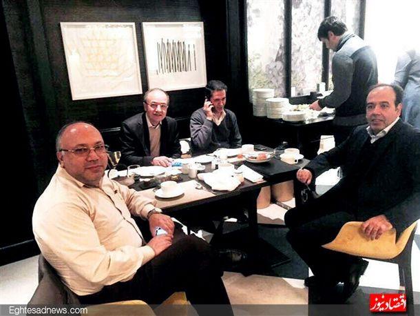 همراه با علی فاضلی رئیس اتاق اصناف. بهمن عبدالهی رئیس اتاق تعاون در آخرین لحظات از سفر جاماند.اگر ایشان هم بود،می شد بگویم صبحانه خصوصی.