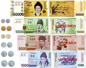 نرخ وون کره جنوبی