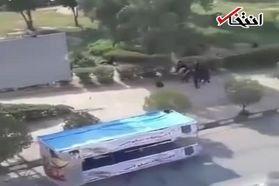 فیلم درگیری نیروهای امنیتی با تروریستهای حادثه اهواز