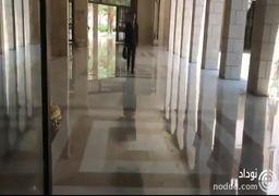 لحظه ورود بشار اسد به محل کارش بعد از حمله نظامی به سوریه + فیلم