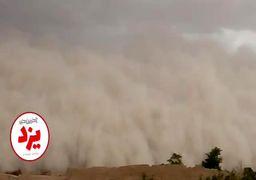 توفان شن یزد را با خود برد/ فیلم+ عکس